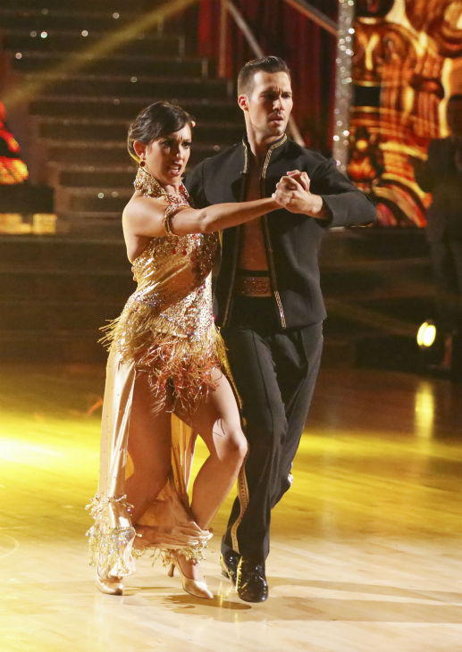 James Maslow and Cheryl Burke danced the Tango on week 4 of ABC&#39;s &#39;Dancing With The Stars&#39; on April 7, 2014. They received 35 out of 40 points from the judges. Maslow&#39;s regular partner is Peta Murgatroyd. <span class=meta>(ABC Photo &#47; Adam Taylor)</span>