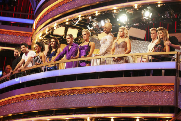 "<div class=""meta image-caption""><div class=""origin-logo origin-image ""><span></span></div><span class=""caption-text"">The cast of ABC's 'Dancing With The Stars' appears on week 4 of season 18 on April 7, 2014. The episode featured the anticipated 'Switch-Up' -- for the first time, celebrities danced with different dance pro partners. There was no elimination. Next week, the celebrities will be reunited with their regular partners and will receive a score based on both weeks' performances. One pair is expected to be eliminated. (ABC Photo / Adam Taylor)</span></div>"