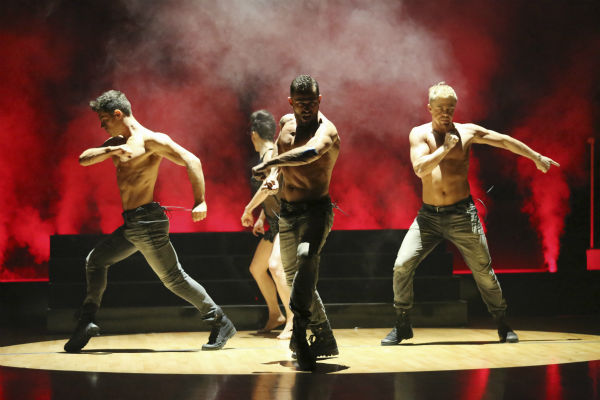 "<div class=""meta ""><span class=""caption-text "">The 'Macy's Stars of Dance' returned for the first time during season 18 of ABC's 'Dancing With The Stars' on April 7, 2014, with creative oversight by dance pro Derek Hough. The performance featured choreography that blended Latin and contemporary dance styles. It also featured both the Pro and Troupe dancers as well as 'So You Think You Can Dance' all-star Kathryn McCormick. Also pictured: Jonathan Platero and Artem Chigvintsev. (ABC Photo / Adam Taylor)</span></div>"