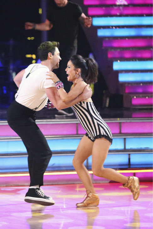"<div class=""meta ""><span class=""caption-text "">Danica McKellar and Maksim Chmerkovskiy dance the Jive routine on week 4 of ABC's 'Dancing With The Stars' on April 7, 2014. They received 36 out of 40 points from the judges. McKellar's regular partner is Chmerkovskiy's brother, Val. (ABC Photo / Adam Taylor)</span></div>"