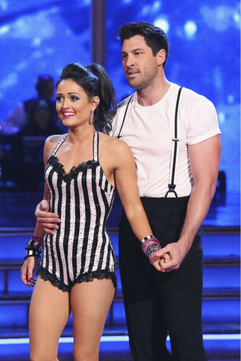 "<div class=""meta image-caption""><div class=""origin-logo origin-image ""><span></span></div><span class=""caption-text"">Danica McKellar and Maksim Chmerkovskiy danced the Jive routine on week 4 of ABC's 'Dancing With The Stars' on April 7, 2014. They received 36 out of 40 points from the judges. McKellar's regular partner is Chmerkovskiy's brother, Val. (ABC Photo / Adam Taylor)</span></div>"