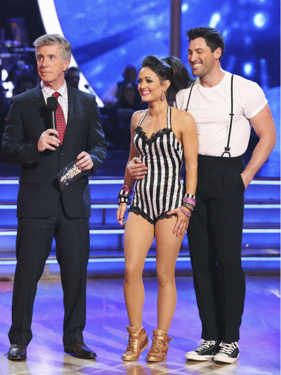 Danica McKellar and Maksim Chmerkovskiy danced the Jive routine on week 4 of ABC&#39;s &#39;Dancing With The Stars&#39; on April 7, 2014. They received 36 out of 40 points from the judges. McKellar&#39;s regular partner is Chmerkovskiy&#39;s brother, Val. <span class=meta>(ABC Photo &#47; Adam Taylor)</span>