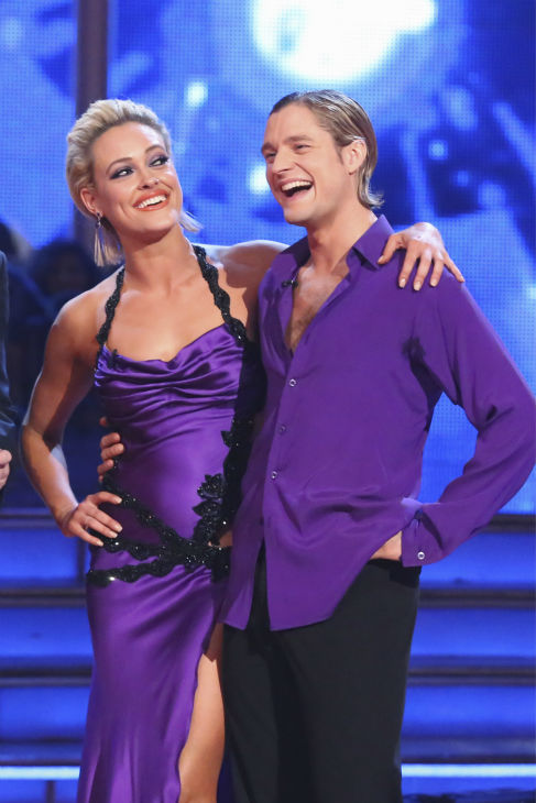 "<div class=""meta image-caption""><div class=""origin-logo origin-image ""><span></span></div><span class=""caption-text"">Charlie White and Peta Murgatroyd danced the Rumba on week 4 of ABC's 'Dancing With The Stars' on April 7, 2014. They received 33 out of 40 points from the judges. White's regular partner is Sharna Burgess. (ABC Photo / Adam Taylor)</span></div>"