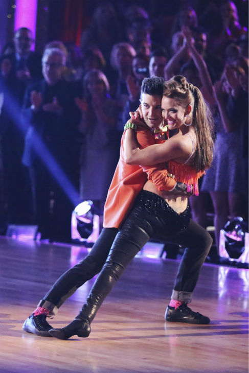 Amy Purdy and Mark Ballas dance the Salsa on week 4 of ABC&#39;s &#39;Dancing With The Stars&#39; on April 7, 2014. They received 34 out of 40 points from the judges. Purdy&#39;s regular partner is Derek Hough. <span class=meta>(ABC Photo &#47; Adam Taylor)</span>