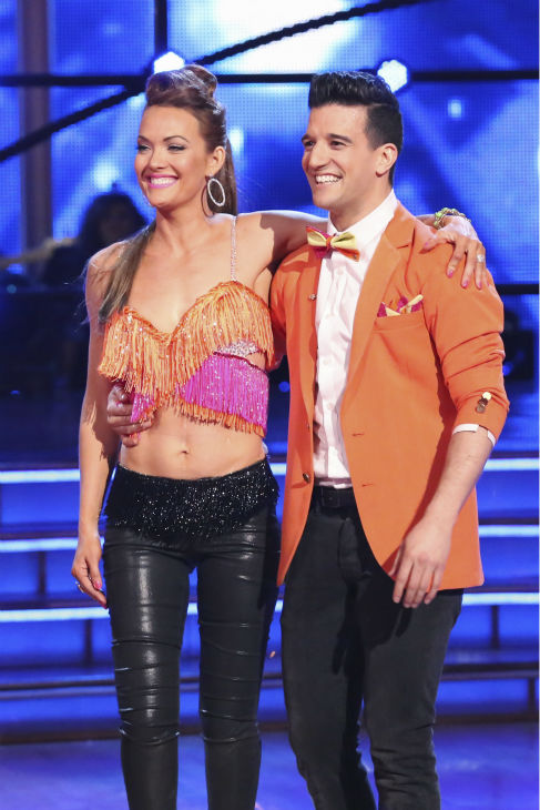 "<div class=""meta image-caption""><div class=""origin-logo origin-image ""><span></span></div><span class=""caption-text"">Amy Purdy and Mark Ballas danced the Salsa on week 4 of ABC's 'Dancing With The Stars' on April 7, 2014. They received 34 out of 40 points from the judges. Purdy's regular partner is Derek Hough. (ABC Photo / Adam Taylor)</span></div>"