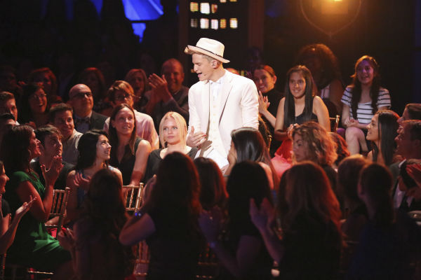 Cody Simpson sings before he and Sharna Burgess &#40;not pictured&#41; dance the Foxtrot on week 4 of ABC&#39;s &#39;Dancing With The Stars&#39; on April 7, 2014. They received 31 out of 40 points from the judges. <span class=meta>(ABC Photo &#47; Adam Taylor)</span>