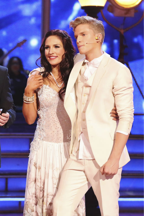 "<div class=""meta image-caption""><div class=""origin-logo origin-image ""><span></span></div><span class=""caption-text"">Cody Simpson and Sharna Burgess danced the Foxtrot on week 4 of ABC's 'Dancing With The Stars' on April 7, 2014. They received 31 out of 40 points from the judges. Simpson's regular partner is Witney Carson. (ABC Photo / Adam Taylor)</span></div>"