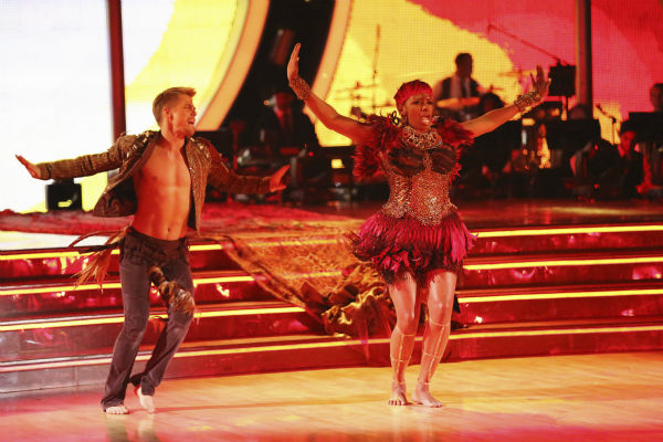 NeNe Leakes and Derek Hough perform a Jazz routine on week 4 of ABC&#39;s &#39;Dancing With The Stars&#39; on April 7, 2014. They received 32 out of 40 points from the judges. Leakes&#39; regular partner is Tony Dovolani. <span class=meta>(ABC Photo &#47; Adam Taylor)</span>