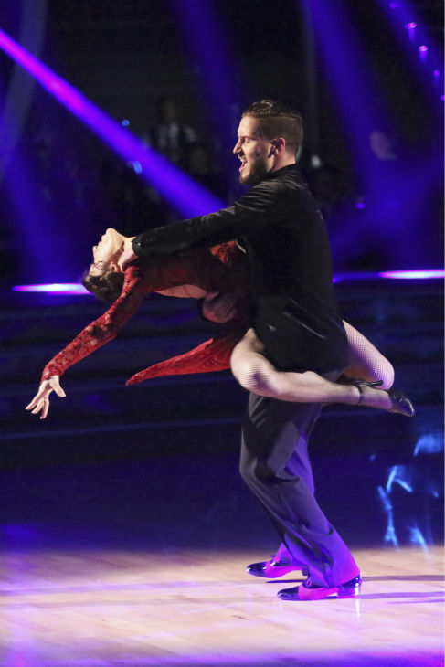 Meryl Davis and Valentin Chmerkovskiy dance the Argentine Tango on week 4 of ABC&#39;s &#39;Dancing With The Stars&#39; on April 7, 2014. They received 39 out of 40 points from the judges. Davis&#39; regular partner is Maksim Chmerkovskiy. <span class=meta>(ABC Photo &#47; Adam Taylor)</span>