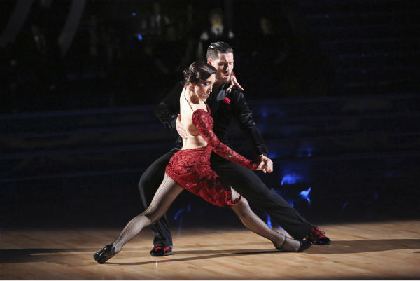 "<div class=""meta ""><span class=""caption-text "">Meryl Davis and Valentin Chmerkovskiy dance the Argentine Tango on week 4 of ABC's 'Dancing With The Stars' on April 7, 2014. They received 39 out of 40 points from the judges. Davis' regular partner is Maksim Chmerkovskiy. (ABC Photo / Adam Taylor)</span></div>"