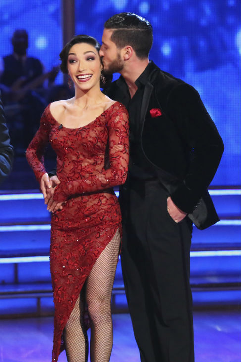 "<div class=""meta ""><span class=""caption-text "">Meryl Davis and Valentin Chmerkovskiy danced the Argentine Tango on week 4 of ABC's 'Dancing With The Stars' on April 7, 2014. They received 39 out of 40 points from the judges. Davis' regular partner is Maksim Chmerkovskiy. (ABC Photo / Adam Taylor)</span></div>"