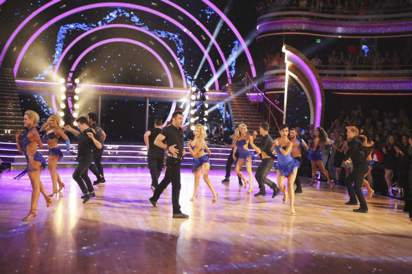 "<div class=""meta image-caption""><div class=""origin-logo origin-image ""><span></span></div><span class=""caption-text"">Pro dancers appear on week 4 of ABC's 'Dancing With The Stars' season 18 on April 7, 2014. (ABC Photo / Adam Taylor)</span></div>"