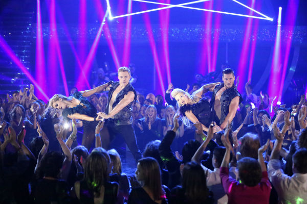 The &#39;Macy&#39;s Stars of Dance&#39; returned for the second time during season 18 on week 6 on April 21, 2014, with creative oversight by &#39;Dancing With The Stars&#39; pro Derek Hough. Pictured: Hough and fellow pros Lindsay Arnold, Witney Carson and Val Chmerkovskiy. <span class=meta>(ABC Photo &#47; Adam Taylor)</span>