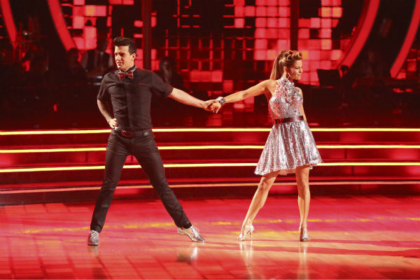 Candace Cameron Bure and Mark Ballas dance the Cha Cha Cha on week 6 of ABC&#39;s &#39;Dancing With The Stars&#39; season 18 on April 21, 2014. They received 32 out of 40 points from the judges. <span class=meta>(ABC Photo &#47; Adam Taylor)</span>