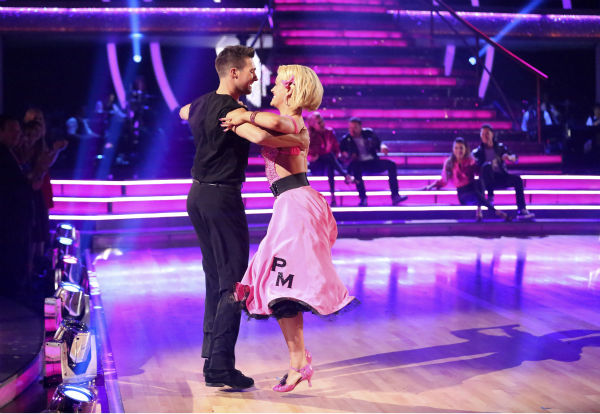"<div class=""meta image-caption""><div class=""origin-logo origin-image ""><span></span></div><span class=""caption-text"">James Maslow and Peta Murgatroyd dance the Quickstep on week 6 of ABC's 'Dancing With The Stars' season 18 on April 21, 2014. They received 35 out of 40 points from the judges. (ABC Photo / Adam Taylor)</span></div>"