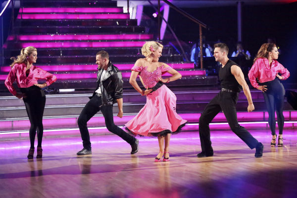 James Maslow and Peta Murgatroyd dance the Quickstep on week 6 of ABC&#39;s &#39;Dancing With The Stars&#39; season 18 on April 21, 2014. They received 35 out of 40 points from the judges. <span class=meta>(ABC Photo &#47; Adam Taylor)</span>