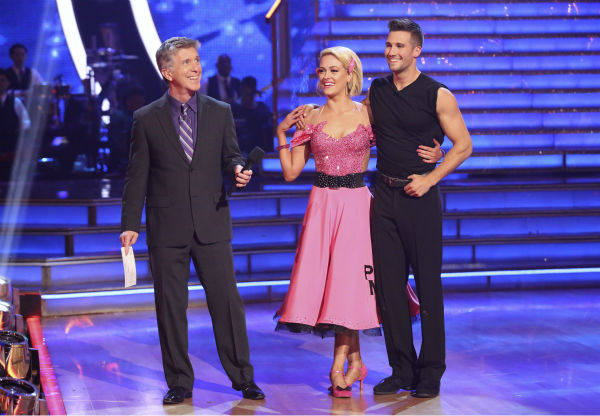 "<div class=""meta image-caption""><div class=""origin-logo origin-image ""><span></span></div><span class=""caption-text"">James Maslow and Peta Murgatroyd danced the Quickstep on week 6 of ABC's 'Dancing With The Stars' season 18 on April 21, 2014. They received 35 out of 40 points from the judges. (ABC Photo / Adam Taylor)</span></div>"