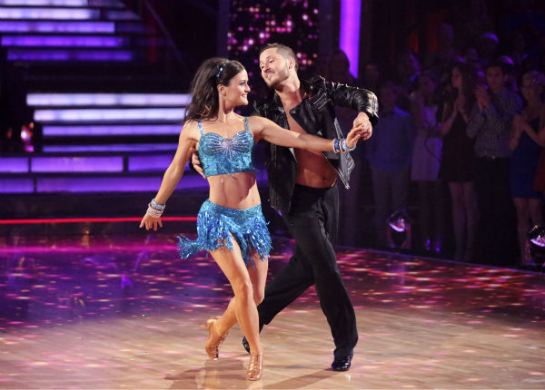 "<div class=""meta image-caption""><div class=""origin-logo origin-image ""><span></span></div><span class=""caption-text"">Danica McKellar and Val Chmerkovskiy danced the Cha Cha Cha on week 6 of ABC's 'Dancing With The Stars' on April 21, 2014. They received 36 out of 40 points from the judges. (ABC Photo / Adam Taylor)</span></div>"