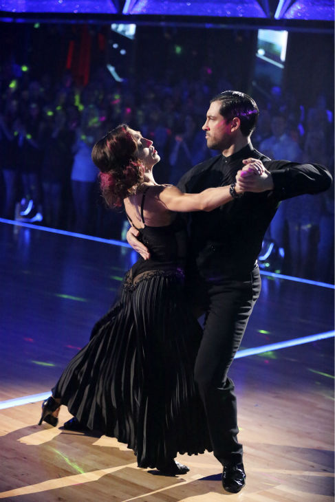 "<div class=""meta ""><span class=""caption-text "">Meryl Davis and Maksim Chmerkovskiy dance the Tango on week 6 of ABC's 'Dancing With The Stars' on April 21, 2014. They received a perfect score of 40 out of 40 points from the judges. (ABC Photo / Adam Taylor)</span></div>"
