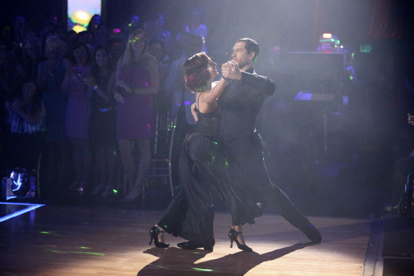 Meryl Davis and Maksim Chmerkovskiy dance the Tango on week 6 of ABC&#39;s &#39;Dancing With The Stars&#39; on April 21, 2014. They received a perfect score of 40 out of 40 points from the judges. <span class=meta>(ABC Photo &#47; Adam Taylor)</span>