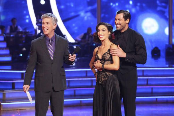 Meryl Davis and Maksim Chmerkovskiy danced the Tango on week 6 of ABC&#39;s &#39;Dancing With The Stars&#39; on April 21, 2014. They received a perfect score of 40 out of 40 points from the judges. <span class=meta>(ABC Photo &#47; Adam Taylor)</span>