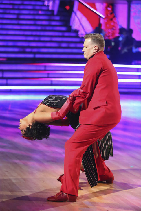 "<div class=""meta image-caption""><div class=""origin-logo origin-image ""><span></span></div><span class=""caption-text"">Drew Carey and Cheryl Burke dance the Tango on week 6 of ABC's 'Dancing With The Stars' on April 21, 2014. They received 32 out of 40 points from the judges. (ABC Photo / Adam Taylor)</span></div>"