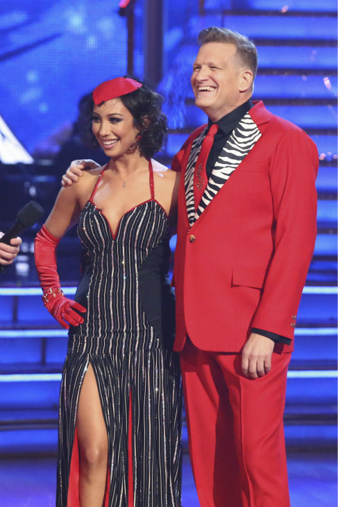 "<div class=""meta image-caption""><div class=""origin-logo origin-image ""><span></span></div><span class=""caption-text"">Drew Carey and Cheryl Burke danced the Tango on week 6 of ABC's 'Dancing With The Stars' on April 21, 2014. They received 32 out of 40 points from the judges. (ABC Photo / Adam Taylor)</span></div>"
