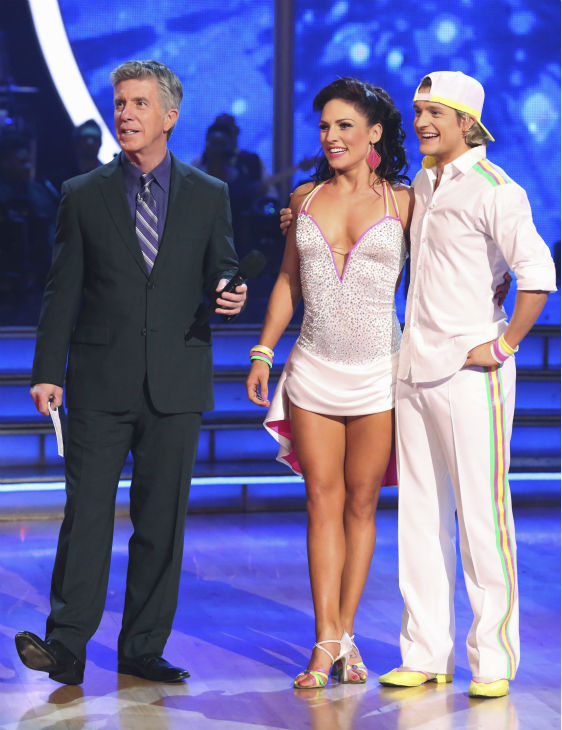 Charlie White and Sharna Burgess danced the Cha Cha Cha on week 6 of ABC&#39;s &#39;Dancing With The Stars&#39; on April 21, 2014. They received 36 out of 40 points from the judges. <span class=meta>(ABC Photo &#47; Adam Taylor)</span>