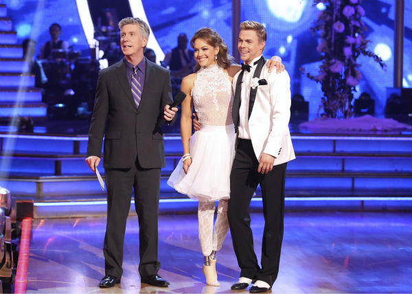 "<div class=""meta image-caption""><div class=""origin-logo origin-image ""><span></span></div><span class=""caption-text"">Amy Purdy and Derek Hough danced a wedding-themed Jive on week 6 of ABC's 'Dancing With The Stars' on April 21, 2014. They received 38 out of 40 points from the judges. (ABC Photo / Adam Taylor)</span></div>"