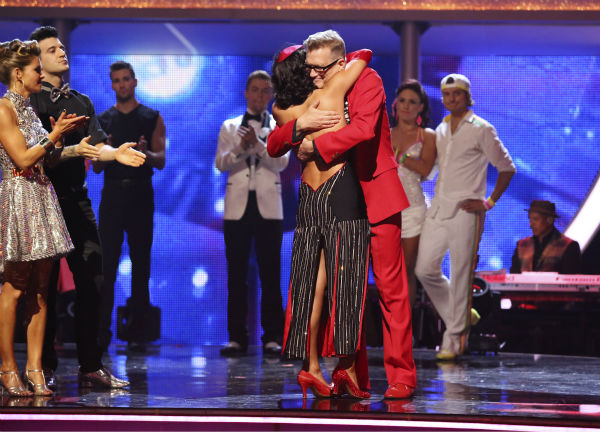 Drew Carey and Cheryl Burke react to being eliminated on week 6 of ABC&#39;s &#39;Dancing With The Stars&#39; on April 21, 2014. They received 32 out of 40 points for their Tango, placing last, and also came in last place the week before. <span class=meta>(ABC Photo &#47; Adam Taylor)</span>