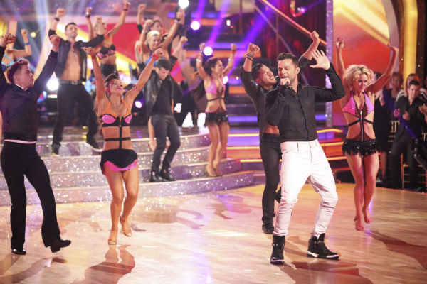 "<div class=""meta image-caption""><div class=""origin-logo origin-image ""><span></span></div><span class=""caption-text"">Ricky Martin appears as a guest judge and performer on Latin night during week 7 of 'Dancing With The Stars' on April 28, 2014. (ABC Photo / Adam Taylor)</span></div>"