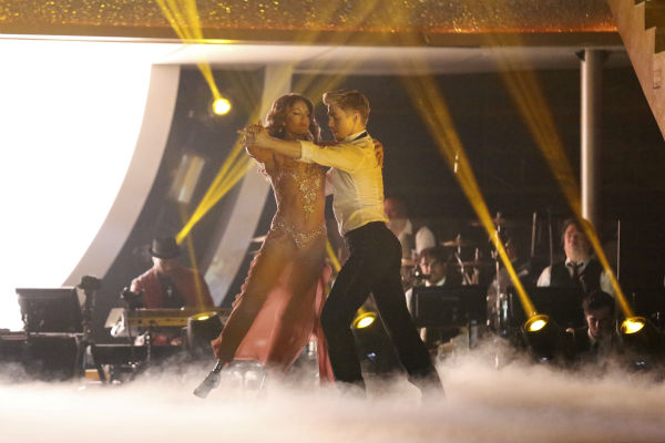 "<div class=""meta image-caption""><div class=""origin-logo origin-image ""><span></span></div><span class=""caption-text"">Amy Purdy and Derek Hough dance the Rumba on week 7 of 'Dancing With The Stars' on April 28, 2014. They received 36 out of 40 points from the judges. The two also danced as part of team Loca and received 39 out of 40 points from the judges. (ABC Photo / Adam Taylor)</span></div>"