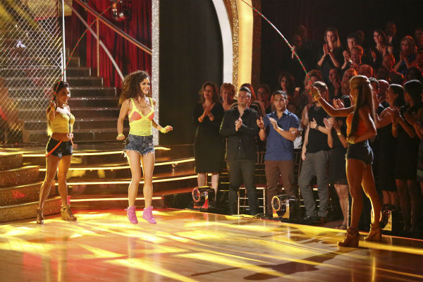 "<div class=""meta image-caption""><div class=""origin-logo origin-image ""><span></span></div><span class=""caption-text"">Danica McKellar and Valentin Chmerkovskiy dance the Salsa on week 7 of 'Dancing With The Stars' on April 28, 2014. They received 33 out of 40 points from the judges. The two also danced as part of team Loca and received 39 out of 40 points from the judges. (ABC Photo / Adam Taylor)</span></div>"