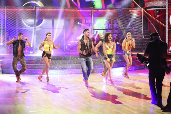 "<div class=""meta ""><span class=""caption-text "">Danica McKellar and Valentin Chmerkovskiy dance the Salsa on week 7 of 'Dancing With The Stars' on April 28, 2014. They received 33 out of 40 points from the judges. The two also danced as part of team Loca and received 39 out of 40 points from the judges. Also pictured: Henry Byallikov, Lindsay Arnold, Artem Chigvintsev and Jenna Johnson. (ABC Photo / Adam Taylor)</span></div>"