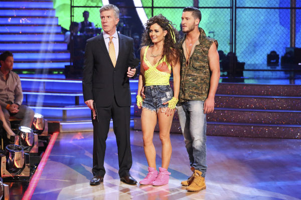 "<div class=""meta image-caption""><div class=""origin-logo origin-image ""><span></span></div><span class=""caption-text"">Danica McKellar and Valentin Chmerkovskiy danced the Salsa on week 7 of 'Dancing With The Stars' on April 28, 2014. They received 33 out of 40 points from the judges. (ABC Photo / Adam Taylor)</span></div>"