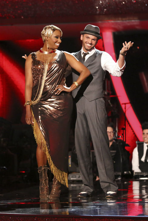 "<div class=""meta image-caption""><div class=""origin-logo origin-image ""><span></span></div><span class=""caption-text"">NeNe Leakes and Tony Dovolani react to being eliminated on week 7 of 'Dancing With The Stars' on April 28, 2014. They received 31 out of 40 points from the judges for their Argentine Tango. The two also danced as part of team Vida and the team received 35 out of 40 points from the judges. (ABC Photo / Adam Taylor)</span></div>"