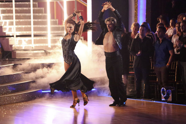 "<div class=""meta ""><span class=""caption-text "">Charlie White and Sharna Burgess dance the Paso Doble on week 7 of 'Dancing With The Stars' on April 28, 2014. They received 36 out of 40 points from the judges. The two also danced as part of team Vida and the team received 35 out of 40 points from the judges. (ABC Photo / Adam Taylor)</span></div>"