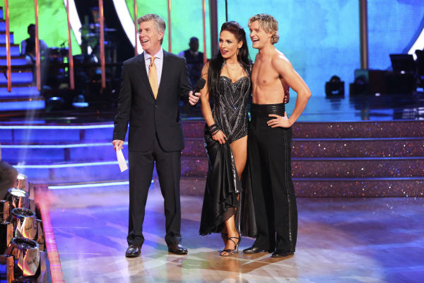 "<div class=""meta image-caption""><div class=""origin-logo origin-image ""><span></span></div><span class=""caption-text"">Charlie White and Sharna Burgess danced the Paso Doble on week 7 of 'Dancing With The Stars' on April 28, 2014. They received 36 out of 40 points from the judges. The two also danced as part of team Vida and the team received 35 out of 40 points from the judges. (ABC Photo / Adam Taylor)</span></div>"