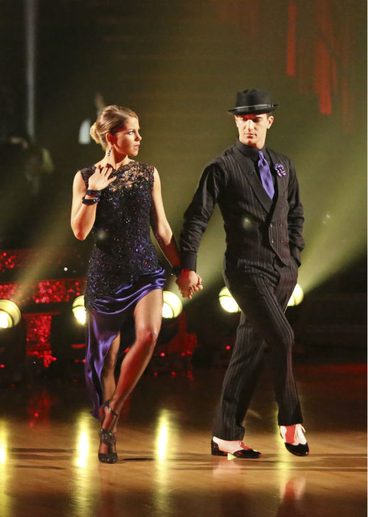 "<div class=""meta image-caption""><div class=""origin-logo origin-image ""><span></span></div><span class=""caption-text"">Candace Cameron Bure and Mark Ballas perform the Argentine Tango on week 7 of 'Dancing With The Stars' on April 28, 2014. They received 35 out of 40 points from the judges. The two also danced as part of team Loca and received 39 out of 40 points from the judges. (ABC Photo / Adam Taylor)</span></div>"