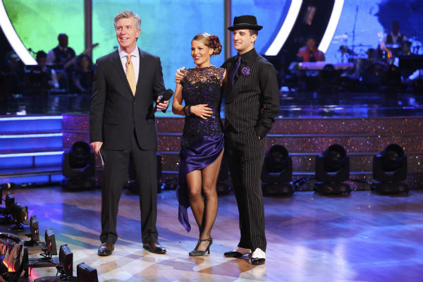 Candace Cameron Bure and Mark Ballas performed the Argentine Tango on week 7 of &#39;Dancing With The Stars&#39; on April 28, 2014. They received 35 out of 40 points from the judges. The two also danced as part of team Loca and received 39 out of 40 points from the judges. <span class=meta>(ABC Photo &#47; Adam Taylor)</span>