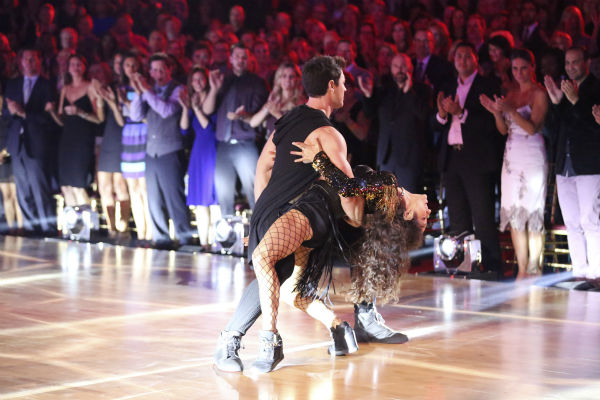 Meryl Davis and Maksim Chmerkovskiy dance the Salsa on week seven of &#39;Dancing With The Stars&#39; on April 28, 2014. They received 39 out of 40 points from the judges. <span class=meta>(ABC Photo &#47; Adam Taylor)</span>