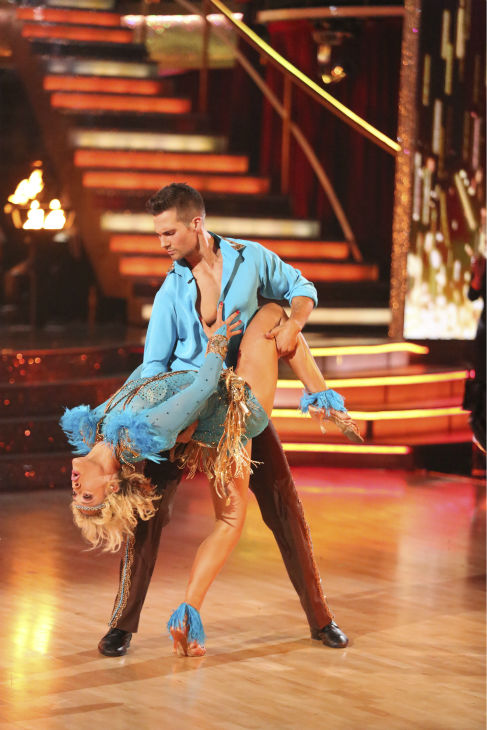"<div class=""meta image-caption""><div class=""origin-logo origin-image ""><span></span></div><span class=""caption-text"">James Maslow and Peta Murgatroyd danced as part of team Vida on week 7 of 'Dancing With The Stars' on April 28, 2014. They received 35 out of 40 points from the judges. (ABC Photo / Adam Taylor)</span></div>"