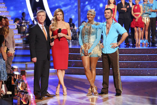 NeNe Leakes and Tony Dovolani react to being eliminated on week 7 of &#39;Dancing With The Stars&#39; on April 28, 2014. They received 31 out of 40 points from the judges for their Argentine Tango. The two also danced as part of team Vida and the team received 35 out of 40 points from the judges. <span class=meta>(ABC Photo &#47; Adam Taylor)</span>
