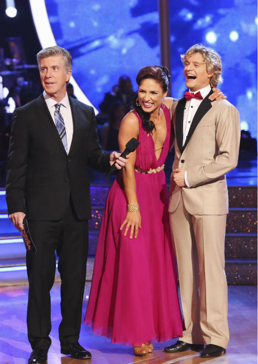Charlie White and Sharna Burgess dance the Quickstep on week 8 of &#39;Dancing With The Stars&#39; on May 5, 2014. They received 40 out of 40 points from the judges. He also scored 38 out of 40 points with Candace Cameron Bure for their Contemporary routine during the celebrity dance duel. <span class=meta>(ABC Photo &#47; Adam Taylor)</span>