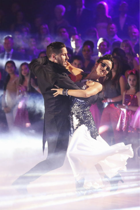 Danica McKellar and Valentin Chmerkovskiy dance the Tango on week 8 of &#39;Dancing With The Stars&#39; on May 5, 2014. They received 38 out of 40 points from the judges. She also scored 34 out of 40 points with Meryl Davis for their Samba routine during the celebrity dance duel. <span class=meta>(ABC Photo &#47; Adam Taylor)</span>