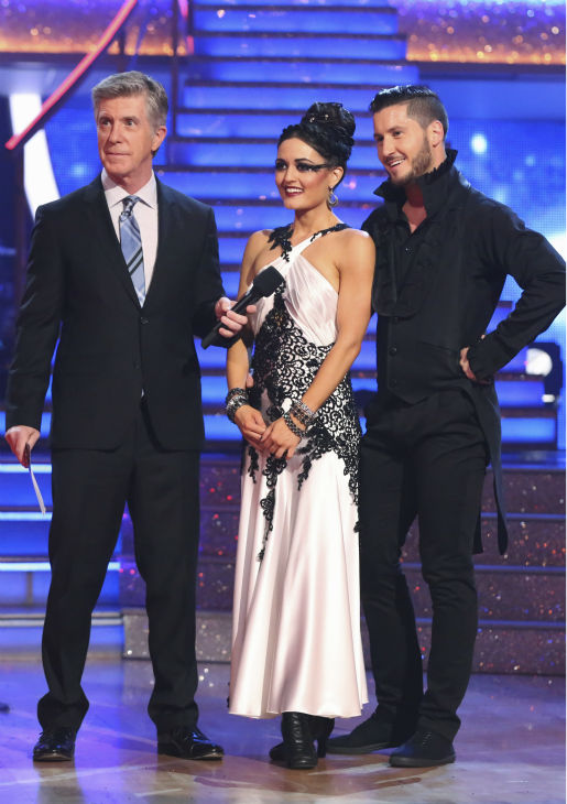 Danica McKellar and Valentin Chmerkovskiy danced the Tango on week 8 of &#39;Dancing With The Stars&#39; on May 5, 2014. They received 38 out of 40 points from the judges. She also scored 34 out of 40 points with Meryl Davis for their Samba routine during the celebrity dance duel. <span class=meta>(ABC Photo &#47; Adam Taylor)</span>