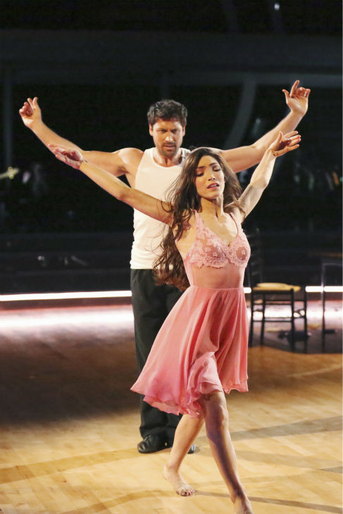 "<div class=""meta ""><span class=""caption-text "">Meryl Davis and Maksim Chmerkovskiy dance the Rumba on week 8 of 'Dancing With The Stars' on May 5, 2014. They received 36 out of 40 points from the judges. She also scored 34 out of 40 points with Danica McKellar for their Samba routine during the celebrity dance duel. (ABC Photo / Adam Taylor)</span></div>"
