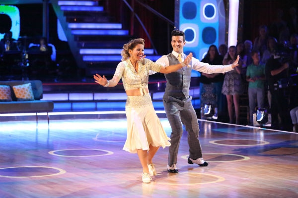 "<div class=""meta image-caption""><div class=""origin-logo origin-image ""><span></span></div><span class=""caption-text"">Candace Cameron Bure and Mark Ballas perform the Foxtrot on week 8 of 'Dancing With The Stars' on May 5, 2014. They received 36 out of 40 points from the judges. She also scored 38 out of 40 points with Charlie White for their Contemporary routine during the celebrity dance duel. (ABC Photo / Adam Taylor)</span></div>"