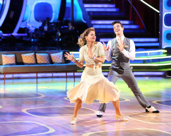 "<div class=""meta ""><span class=""caption-text "">Candace Cameron Bure and Mark Ballas perform the Foxtrot on week 8 of 'Dancing With The Stars' on May 5, 2014. They received 36 out of 40 points from the judges. She also scored 38 out of 40 points with Charlie White for their Contemporary routine during the celebrity dance duel. (ABC Photo / Adam Taylor)</span></div>"