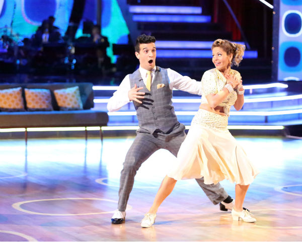Candace Cameron Bure and Mark Ballas perform the Foxtrot on week 8 of &#39;Dancing With The Stars&#39; on May 5, 2014. They received 36 out of 40 points from the judges. She also scored 38 out of 40 points with Charlie White for their Contemporary routine during the celebrity dance duel. <span class=meta>(ABC Photo &#47; Adam Taylor)</span>